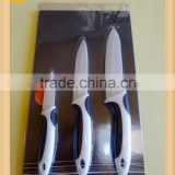 "Top Quality Ceramic Knife set 3"" Fruit Knife+5"" Utility Knife+6"" Chef knife Double Colored Handle"