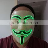 High quality&High luminance EL glowing Mask /el glowing wire mask / EL WIRE Mash