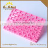Brick Wall Plastic Fondant decorating Frill Cutter Gum Paste Embossing cutter