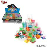 2015 maze plastic magic cube wholesale educational toy