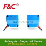 HR series Rectangular Shape Photoelectric Sensor, DIffuse/Retro Reflective/Through-beam Photo Sensor