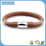 2016 New Product Brown Genuine Baseball Leather Bracelet
