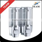 TM-20 100% ABS plastic 400ML chrome bathroom accessories hotel shampoo dispenser double box wall mount liquid soap dispenser