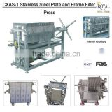 Hot sale!!! CXAS-1 stainless steel plate and frame filter press laboratory filter press
