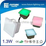 New product 5 years warranty DC24V 100*100 RGB full color IP67 toughened glass led glass brick led paving stone lights