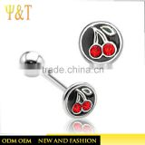 2016 Latest women hot sex silver plated stainless steel navel rings body piercing jewelry designs