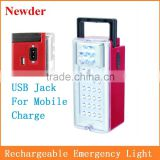 24+4 LED auto charging rechargeable emergency lamp with remote control