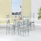 Contemporary MDF Metal Dining Table And Chairs Home Useful furniture