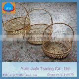 pure handmade weaving oval natural promotion bamboo basket