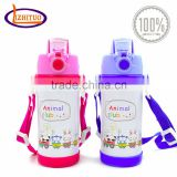 Baby food grade stainless steel reusable sports water bottles for kids