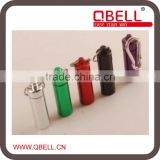 [QBELL]Aluminium Pill Box Case Bottle Holder Keyring Promotion Medicine Waterproof Container Keychain