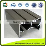 aluminum profiles 6063-T5 with different surface treatment anodizing/powder coating/wood grain profiles