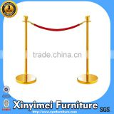 Brass Crown Stanchion with Velvet Rope