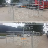 Custom specification portable horse fence panel with hot dipped galvanized coat,6 rail horse yard panel specialized manufacturer