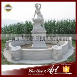 Stone Outdoor Garden White Marble Lady Water Fountain