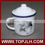 Promotional enamel dringking cup mug for sublimation printing