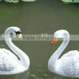 hard fiber glass reinforced plastics garden decor swan