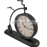 Metal old fashioned Bicycle Table Clock desktop clock