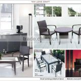 PLASTIC RATTAN SET, WICKER OUT DOOR FURNITURE FRAME IRON/ALUMINIUM