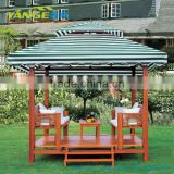 wooden patio garden line gazebo