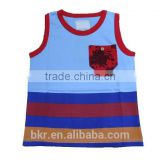 BOYS SLEEVELESS PRINTED T-SHIRT