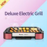 Electric Grill Pan with Non-stick Surface BBQ Griddle Indoor and Outdoor with Top Quality