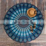 newly y printed round beach towel/onaya round table towel shawl yoga mat bath towel beach towels