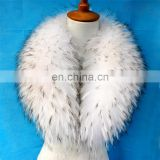 Factory price real raccoon fur shawl collar for down jackets custom