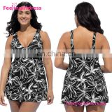 Fashion Sexy V Neck Top Quality One Piece Fat Woman In Bathing Suit