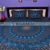 Indian Mandala Turkish Duvet Cover Ethnic Quilt Covers Hand Screen Printed Doona Cover Blanket With Pillow Cover