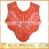 red garment lace collar for sew on women dressing clothings