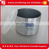 factory transparent plastic ice bucket with printing logo