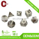 Wholesale custom polyhedral set RPG black finish metal custom dice