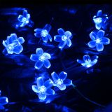 7M 50 LED Solar String Light 4.8M 20LED Sakura Flower Christmas Fairy Light Outdoor Garden Wedding Holiday Light