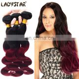 2 Tones Ombre Color T1b/99J Malaysian Body Wave 4 Bundles Deal 8A Malaysian Virgin Hair Cheap Black Red Ombre Malaysian Hair