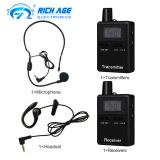 RC 2401 wireless tour gudie system with lanyard and Microphone & Earophone