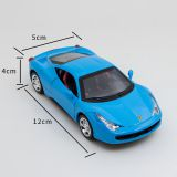 Die Cast Ferrari Model Car / 12cm Blue Function Mdoel Car Available
