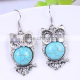 wholesale fashion vintage resin acrylich kallaite owl sterling silver stainless steel single stone earring designs                                                                         Quality Choice