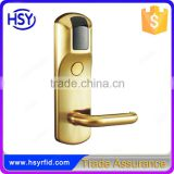 Keyless high security rfid hotel door lock with intelligent RF id card from Chinese manufacturer