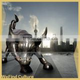 Large Outdoor Cast Metal Bronze Bull Sculpture for Square