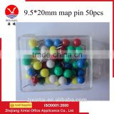 Wholesale solid plastic round ball head color map pins (tack)