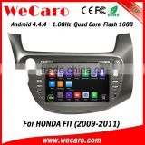 "Wecaro android 4.4.4 car gps navigation system Dashboard Placement 8"" for honda fit car dvd USB SD TV tuner 2009 2010 2011"