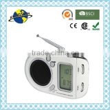 Promotional Funny Portable AM/FM/SW1-7 9 Band LCD Alarm Clock Radio