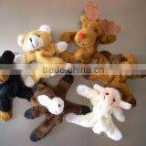 plush toy fridge magnet/custom fridge magnets/plush mini animal toy