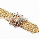Gold color innovative items girl crystal bracelets for women new item gift fashion plated rhinestone bracelet bangles cc brand