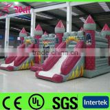 2015 Good quality inflatable bouncy castle with water slide / inflatable air castle for sale