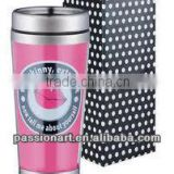 Travel Mug Stainless Steel 450ml with paper insert