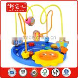 new products 2015 innovative product 18M+ kids play bulk wooden beads slide pretend play therapy wooden string beads wood toy
