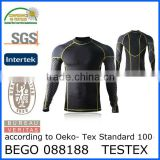 custom printed compression shirts, polyester skin compression shirts, athletic compression shirts