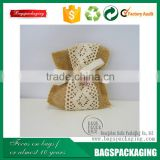 Linen top selling lace wholesale party favor bag